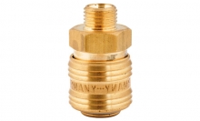 COMPRESSED AIR COUPLER WITH MALE THREAD